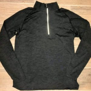 Men's LULULEMON 1/2 Zip Heather Black Pullover